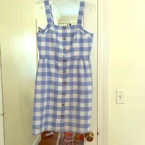 J crew checkered dress
